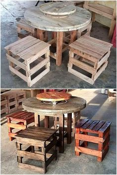 If you are looking for something appealing, exceptional and cheap to afford easily then make thispallets wooden furniture plan on your own. This is so simple yet different pallet innovation to design solely. This furniture plan is also good enough for the renovation of canteens and cafeterias.  #pallets #woodpallet #palletfurniture #palletproject #palletideas #recycle #recycledpallet #reclaimed #repurposed #reused #restore #upcycle #diy #palletart #pallet #recycling #upcycling #refurnish…