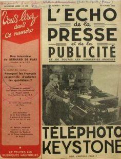 """¡Qué ganas! La próxima semana nos llegarán al Centro de Documentación Publicitaria http://www.lahistoriadelapublicidad.com/bd_entrada.php nuevos ejemplares de la revista de publicidad francesa """"L´ÉCHO DE LA PRESSE ET DE LA PUBLICITÉ"""". Estos ejemplares son de finales de los años 40 y se unen a los que ya tenemos en el Centro y que datan de 1954."""