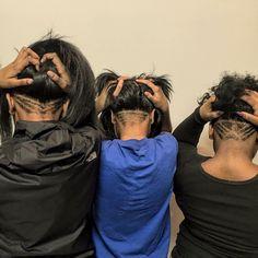 Undercuts on Black Hair Nape Undercut Designs, Undercut Styles, Undercut Women, Undercut Hairstyles, Modern Undercut, Haircuts, Black Hair Undercut, Undercut Natural Hair, Tapered Natural Hair