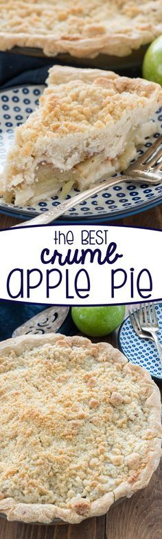 The BEST Crumb Apple Pie Recipe you'll ever eat! This is my signature recipe! EVERYONE loves this easy pie!