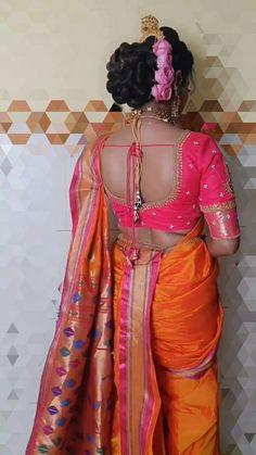 Marathi Saree, Nauvari Saree, Sari, Hair Styles, Beauty, Design, Women, Fashion, Saree