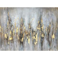 New 'Gleaming Gold' Oil Painting Print on Wrapped Canvas by Home Decor Furniture from top store Metallic Wallpaper, Embossed Wallpaper, Textured Wallpaper, Wallpaper Roll, Painting Frames, Painting Prints, Art Prints, Photos Encadrées, Canvas Art