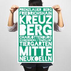 City Districts Poster – Berlin - Holiwall  (via fab.de)