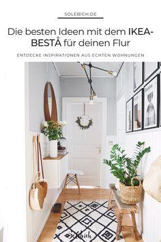 The most beautiful ideas with the IKEA BESTA for your hallway! - IKEA Besta – Ideen für dein Wohnzimmer, Flur & Co. Diy Furniture Videos, Diy Furniture Table, Furniture Ideas, Decoration Hall, Entryway Decor, Hallway Walls, Hallway Ideas, Corridor Ideas, Entry Hallway