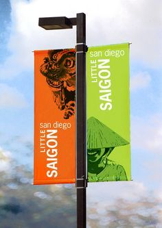 The Little Saigon Foundation of San Diego (LSF) came to SDSU's Design Studio class to design a banner for a section of El Cajon Boulevard. Getting your Traffic Exchange account setup could not be easier. Outdoor Signage, Outdoor Banners, Environmental Graphic Design, Environmental Graphics, Wayfinding Signage, Signage Design, Rollup Design, Pole Banners, Street Banners