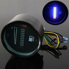 1Piece 10 LEDS 12V Motorcycle Automobile Aluminum Alloy LED Fuel Level Meter Gauge Fuel Level Sensor