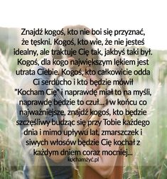 KochamZyc.pl Stydia, Periodic Table, Love Quotes, Mood, Quotes, Periodic Table Chart, Qoutes Of Love, Quotes About Love, Quotes Love
