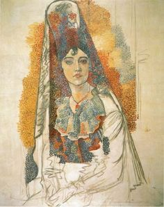 "Picasso, ""Woman in Mantilla"""