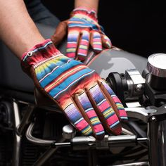 Grifter Bandoleros - Motorcycle Gloves - Revival Cycles - Top view