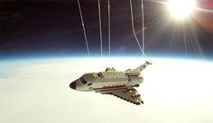 Ônibus Espacial Lego vai ao espaço