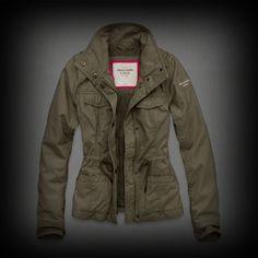 アバクロ レディース ジャケット Abercrombie&Fitch Hailey Jacket ジャケット ★ウエストがシャーリングできるのでスリムな感じでスタイルがタイトに見えるのがいいですね!? ★キルティング裏地やバンジードローコード付き、ハイネックスタイルがポイントになっていてお洒落です!