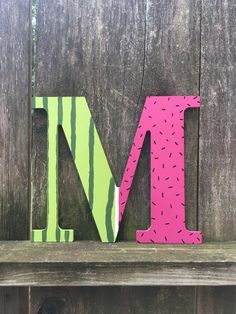 watermelon letter watermelon decor watermelon party watermelon birthday summer decor summer gift watermelon gift tropical fruit pink by luxury Watermelon Birthday Parties, Fruit Birthday, Fruit Party, First Birthday Parties, First Birthdays, Pink Birthday, Birthday Ideas, Paper Mache Letters, Hanging Letters