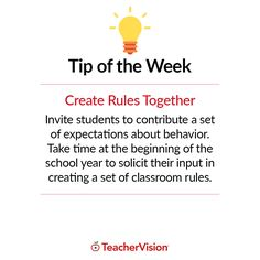 TeacherVision Tip of the Week: Create Rules Together