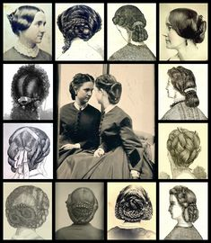 Mid Victorian back combs c 1850s - 1880s