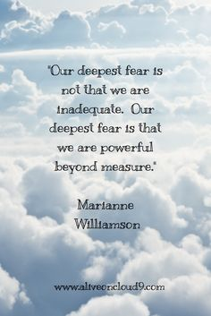 inspirational quote, Marianne Williamson
