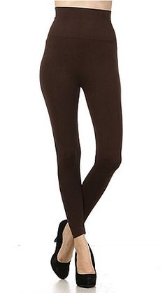 High Rise Leggings, Brown :: NEW ARRIVALS :: The Blue Door Boutique