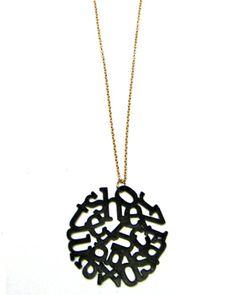 Colgante Letras. Precio: 15,95€ #colgante #pendant #complementos #moda #mujer #locasderemate