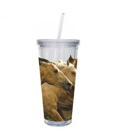 Evergreen Horse Play 20oz Insulated Cup with Straw