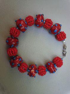 Multi-colored Blue Moon Bead bracelet!