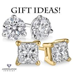 Diamond Stud Earrings make great gifts!