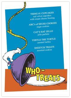 Dr. Seuss Baby shower treats