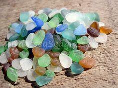 150 pcs of tiny sea glass including rare colors ~ $19.95 ~ from tropical coast of Peru