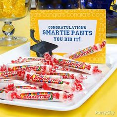 this idea graduation supplies in blue graduation supplies in yellow