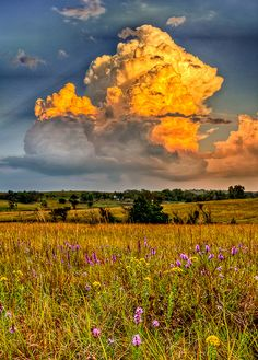 This is a shot of a storm in the flinthills near Alma Kansas