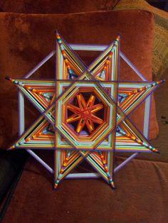 Projects To Try, Facebook, Stars, Gods Eye, Eyes, Mandalas, Braid, Star