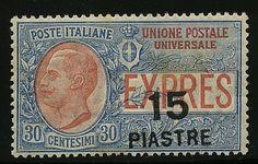 Espresso sopr. 15 pi./30 c. (2). Raro. G.Oliva.