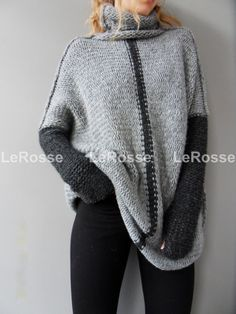 Maglia tricot oversize/Slouchy/Loose. Aplaca maglione. Grosso