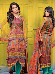 Unique Krinkle Chiffon Lawn Vol 3 Pakistani Three Piece 953b - http://wafafashion.com/product/unique-krinkle-chiffon-lawn-vol-3-pakistani-three-piece-953b/