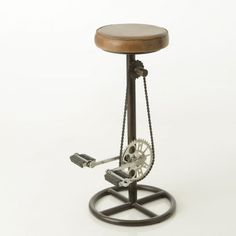 Bicycle Bar Stools are the fun way of Sitting Down at your Favourite Kitchen or Bar, cool gifts for cool men and woman cyclists at Smithers upcycling furniture store uk. We ship World-Wide Retro Bar Stools, Bicycle Bar, Female Cyclist, Bike Pedals, Leather Bar Stools, Bike Seat, Cyclists, Upcycled Furniture, Cool Gifts