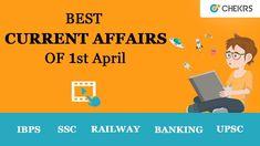 Today's Current Affairs (1st April 2018) News for IAS, UPSC, RAS Exams https://www.youtube.com/watch?v=ho1FAsoCMIM