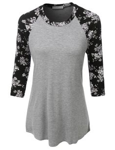 Ultra Soft Sleeve Floral Graphic Baseball Top - looks so comfortable Casual Outfits, Cute Outfits, Fashion Outfits, Womens Fashion, Fashion Trends, Winter Outfits, Women's Casual, Emo Fashion, Work Outfits