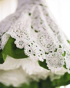 Detalhe de vestido de casamento...