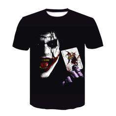 Moda 3d, Mens Tops, Joker, T Shirt, Fashion, Price List, Short Sleeve Hoodie, Clowns, Man Women