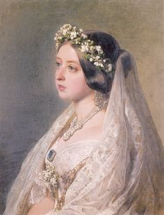 What a baby face! Th young Queen Victoria. Stunning detail on her gown, beautiful lighting, flawless brushstrokes.