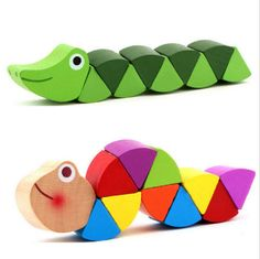 Cheap wooden toys, Buy Quality educational toys directly from China new wooden toys Suppliers: Baby New Wooden Toys Cute Transformable Crocodile Caterpillars Puzzles Fingers Flexible Training Intelligence Educational Toy Educational Toys For Kids, Learning Toys, Early Learning, Doll Toys, Pet Toys, Caterpillar Toys, Diy Bebe, Wooden Baby Toys, Developmental Toys