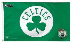 Boston Celtics 3x5 Flag NBA Green Clover