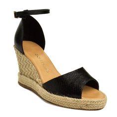 09eefedcd A sandália Anabela Bottero preto, é uma sandália anabela perfeita para dias  de verão e para compor looks elegantes!