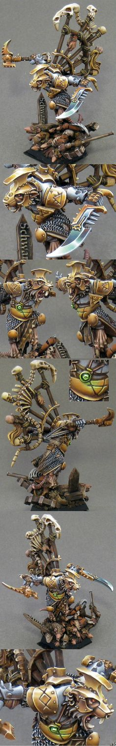 This Skaven is one pissed off rat. - Awesome, Non-Metallic Metal, Queek, Skaven, Warhammer Fantasy, Warlord