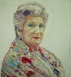 Portrait Painting . Detail I .  Acrylic on Board . 77cm x 107cm .