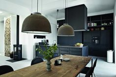 Afbeeldingsresultaat voor industriele modern woonkamer