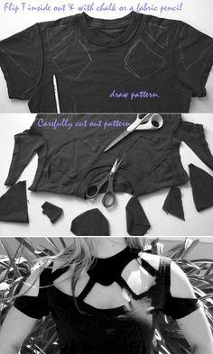 DIY T Shirt crafts (obrigada @bárbara Van Putten pelo pin) :)