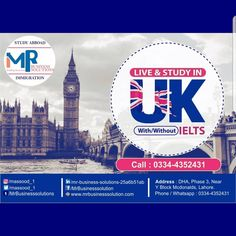 Well Known One of The Leading Study Destination Across the Globe. 📲 Apply Now ⭐Start your applications for September INTAKE 2020⭐ 🇬🇧 4 Years Joint CAS for UG. 🇬🇧 Scholarship up to £3000. 🇬🇧 No IELTS Required-University Own Test Free. 🇬🇧 Year 1, Foundation, Pre-Master's, UG & PG Degree Available. 🇬🇧 2 Year's Post Study Work Visa.  For Registration & Process, Contact us: 📲 0334-4352431 ✉️info@mrbusinesssolution.com Networking Websites, Work Visa, Lahore Pakistan, Ielts, Study Abroad, Life Skills, Social Networks, Germany, University