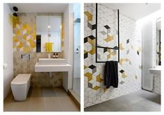 Modern Geometry Inspired Bathroom Designs