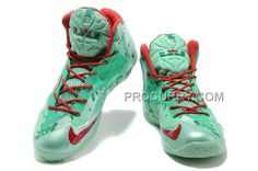 new product 91ec2 4041a Online Nike Lebron Xi Ps, Xdr Mens Green White Printing Christmas