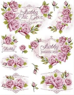 For Shabby Lovers -Print it Decoupage Vintage, Vintage Diy, Shabby Vintage, Vintage Labels, Vintage Cards, Vintage Paper, Vintage Flowers, Vintage Pictures, Vintage Images