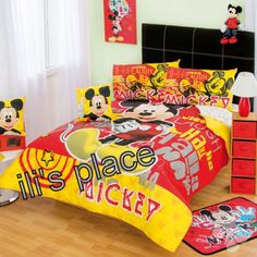 Twin, Full size Boys Disney Mickey Mouse Space Comforter Set #Disney ...